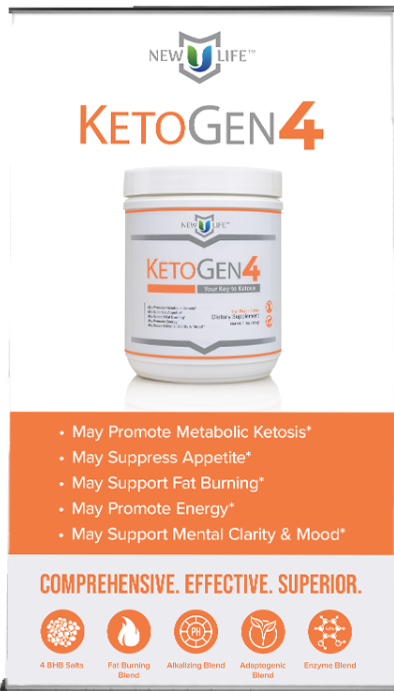 KetoGen4 gets you into Ketosis in hours suppresses appetite burn fat promote energy